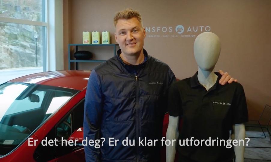 video Ledig stilling Hunsfos auto